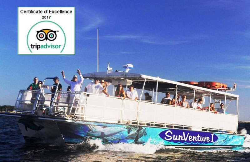 Tripadvisor Certificate of Excellence | Top Destin Boat Tours & Water Sports