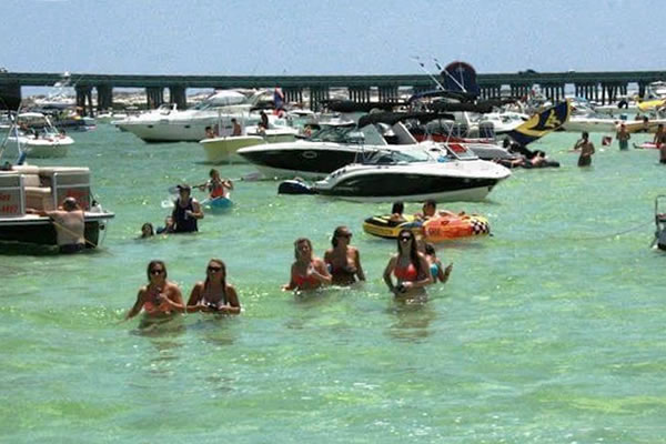 Crab Island Destin Florida Cruises people water