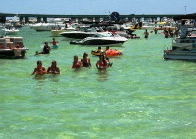 Bachelor and Bachelorette parties in Destin are unforgettable at Crab Island.