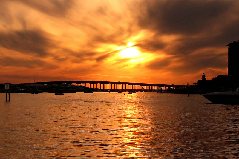 private sunset cruises destin fl bridge